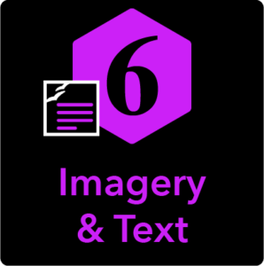 Imagery and Text Icon