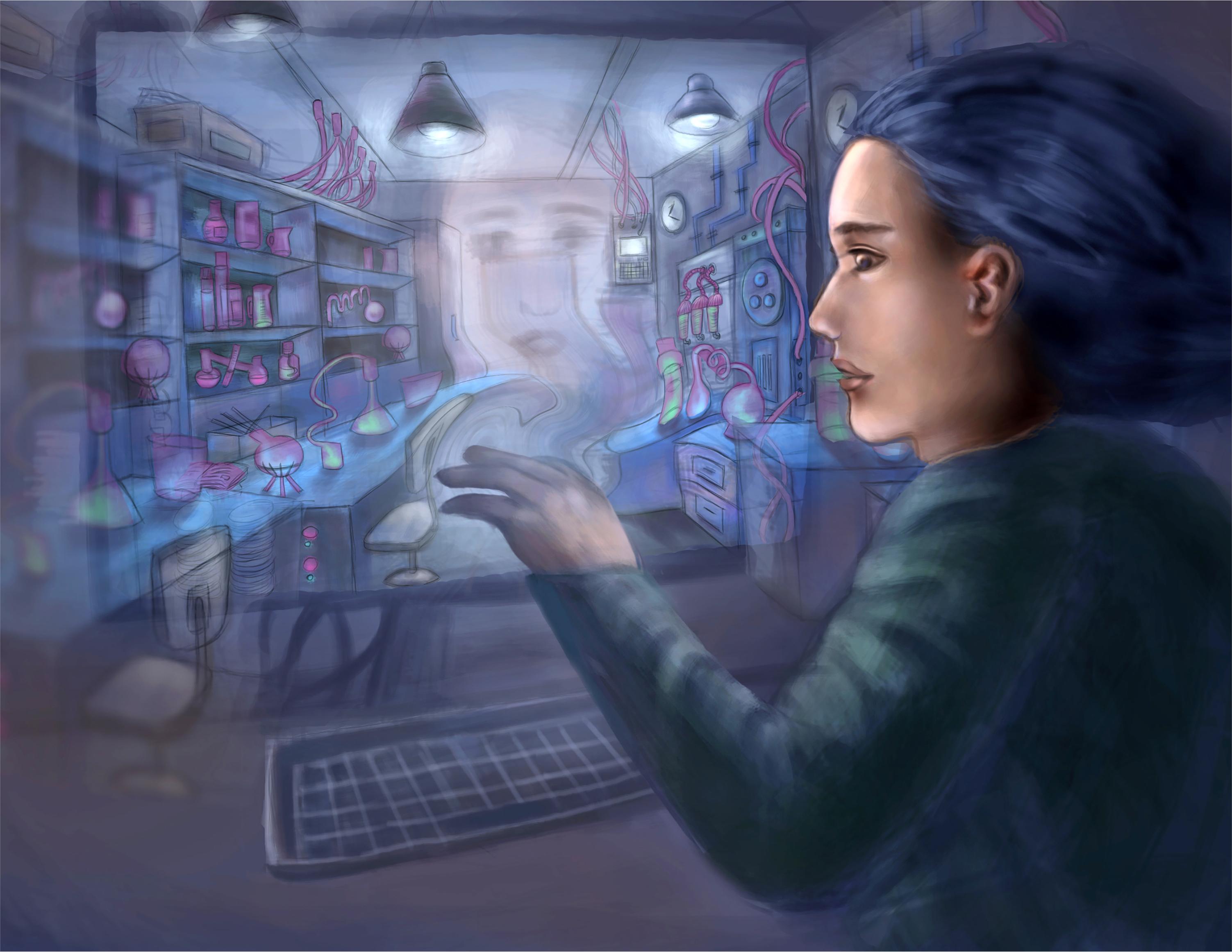 Into the Virtual Lab - a digital image by Jingyu Zhang